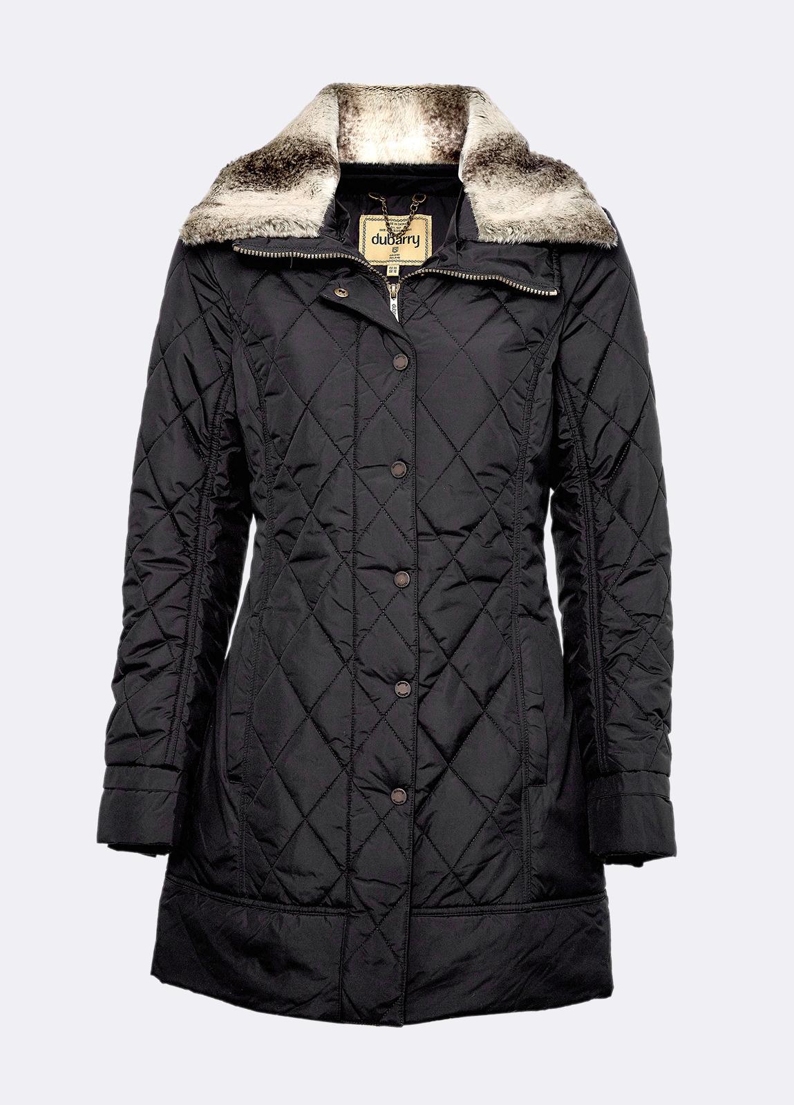 Kenmare Quilted Coat - Black