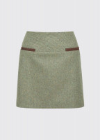 Clover Tweed Mini Skirt - Laurel