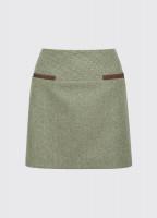 Clover Tweed Mini Skirt - Laurel