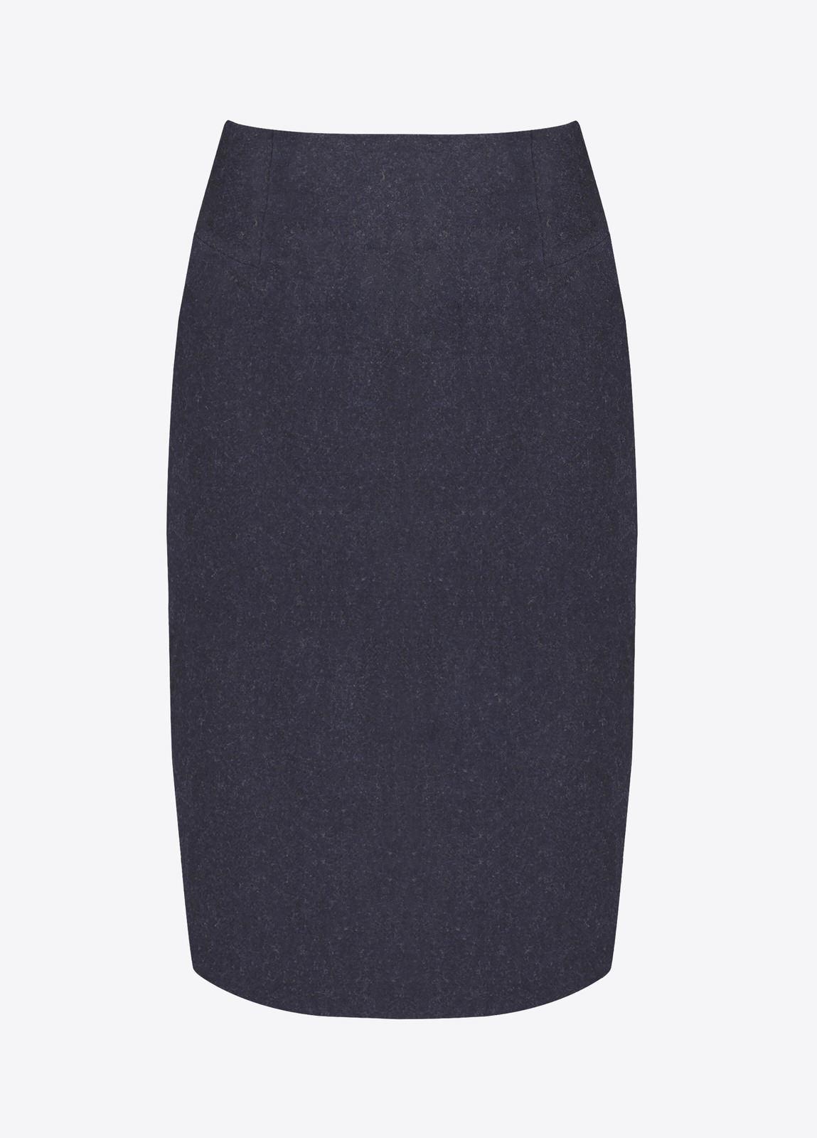Fern Tweed Skirt - Navy