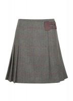 Foxglove Tweed Skirt - Moss