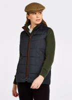 Spiddal Quilted Gilet - Navy Multi