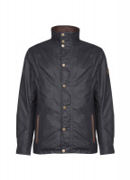 Carrickfergus Waxed Jacket - Navy