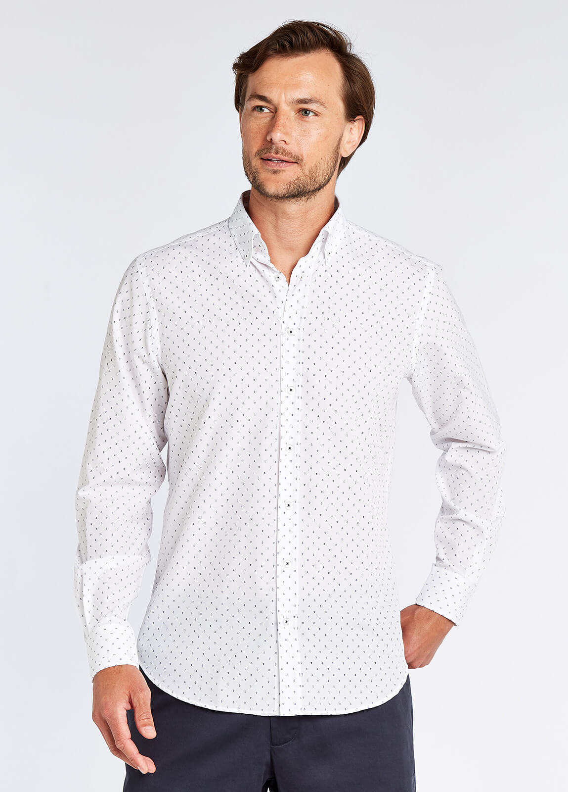 Sandymount Print Shirt - White Multi