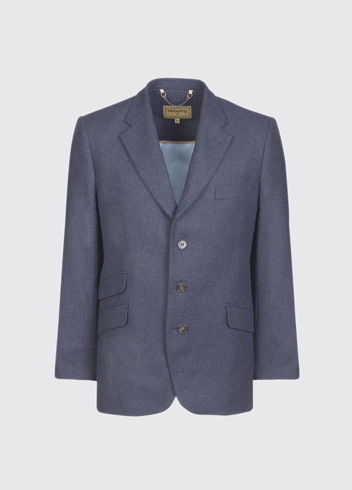 Gorse Regular Fit Tweed Jacket - Navy