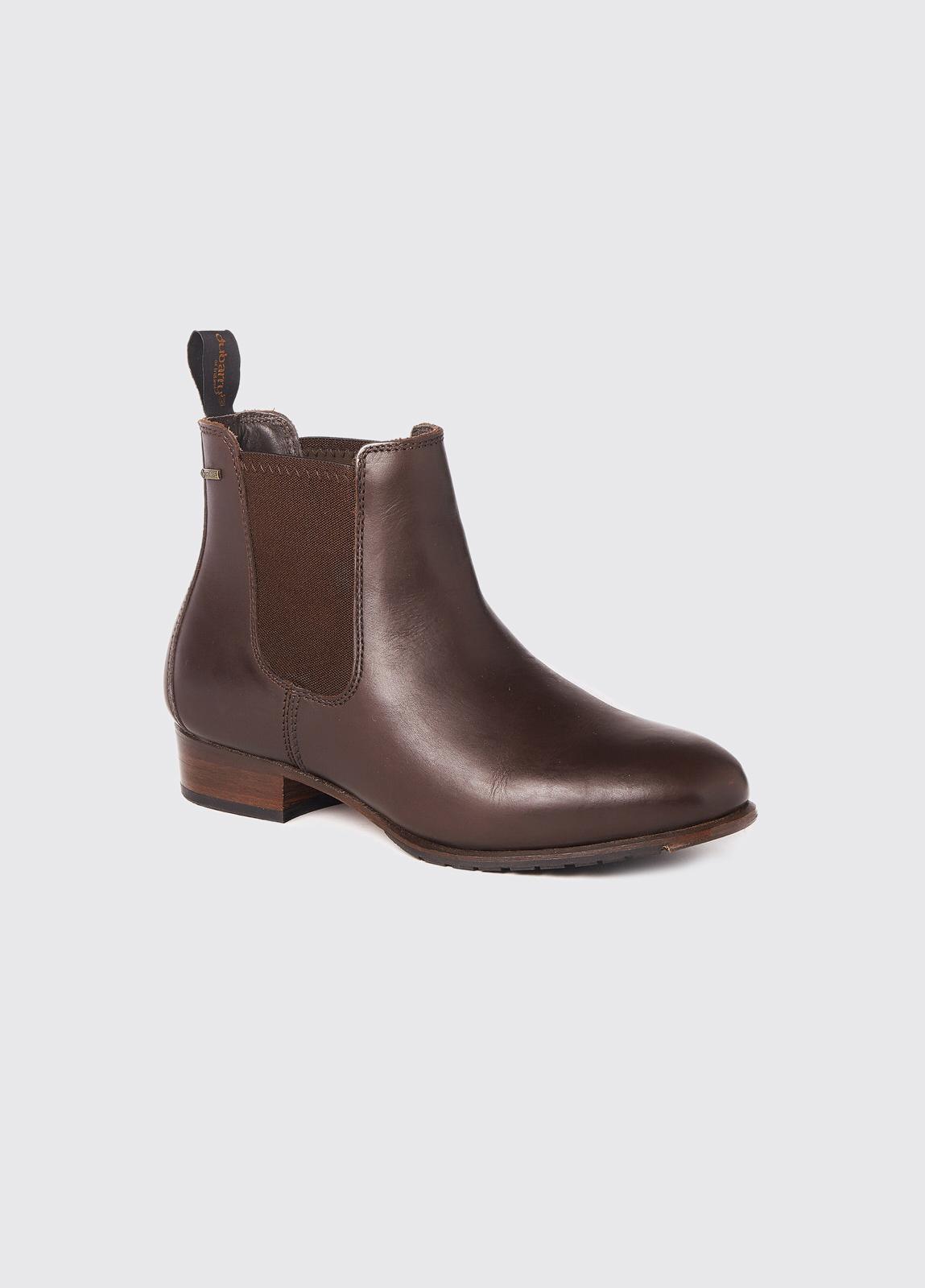 Cork Leather Soled Boot - Mahogany