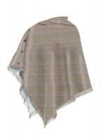 Hazelwood Tweed Poncho - Woodrose