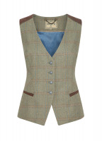 Daisy Fitted Tweed Waistcoat - Acorn