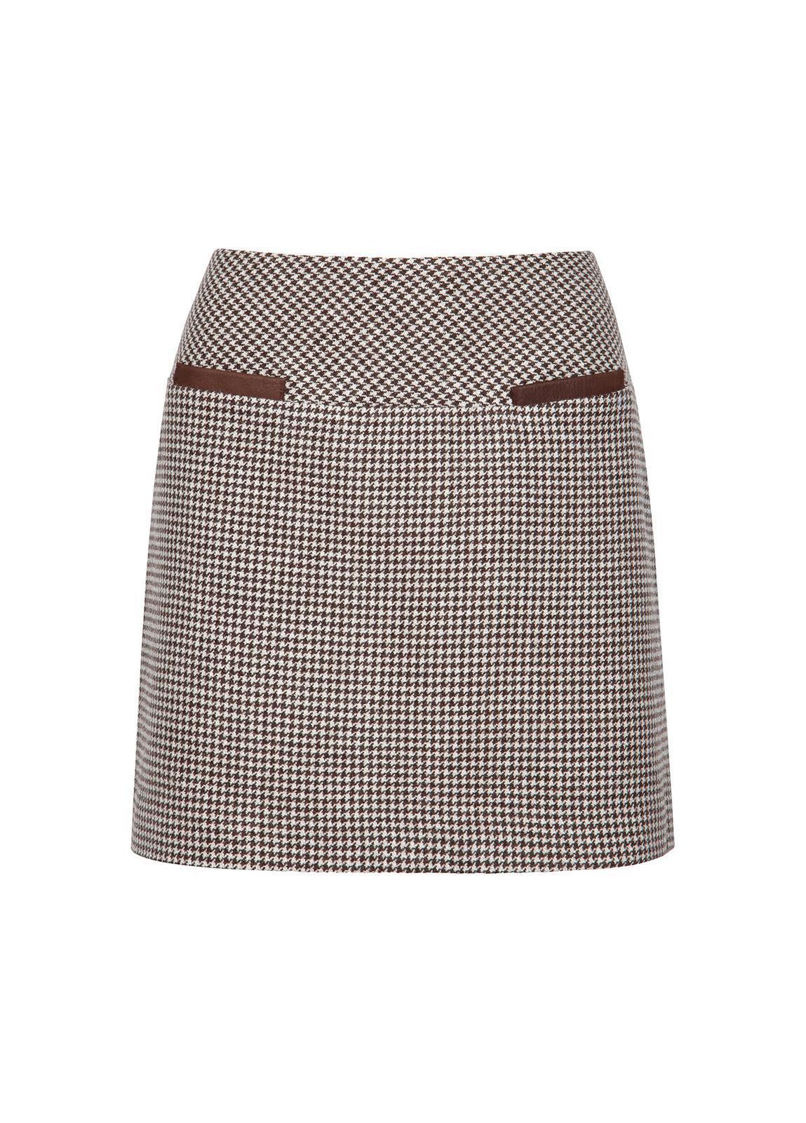 Dubarry_ Clover Tweed Mini Skirt - Cafe_Image_2