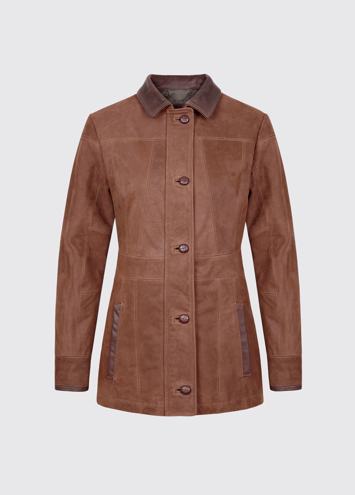 Goldsmith Ladies Leather Jacket - Walnut
