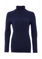 Boylan Polo Neck Sweater - French Navy