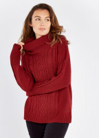 Kennedy Knitted Sweater - Ruby
