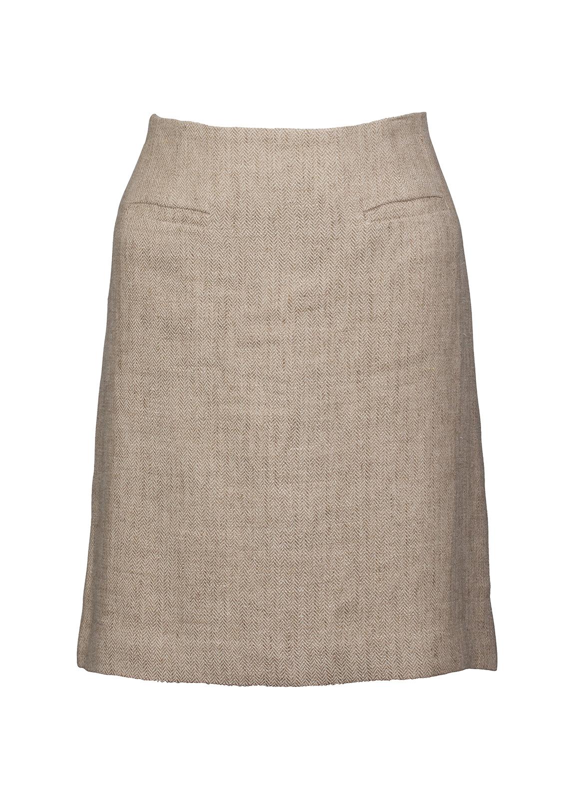 Dubarry_ Sunflower Linen Ladies Skirt - Oatmeal_Image_2