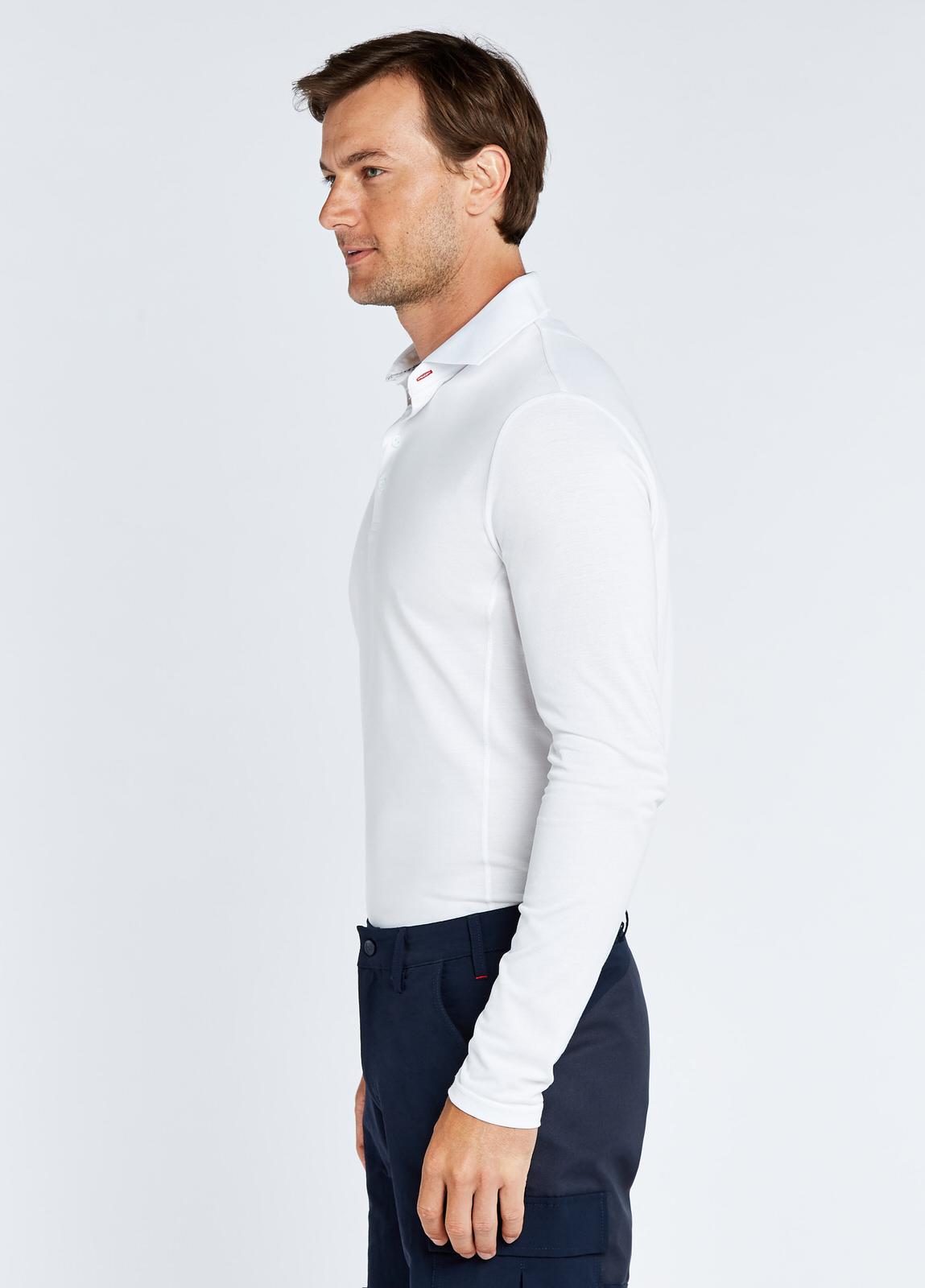 Freshford Unisex Long-sleeved Polo - White