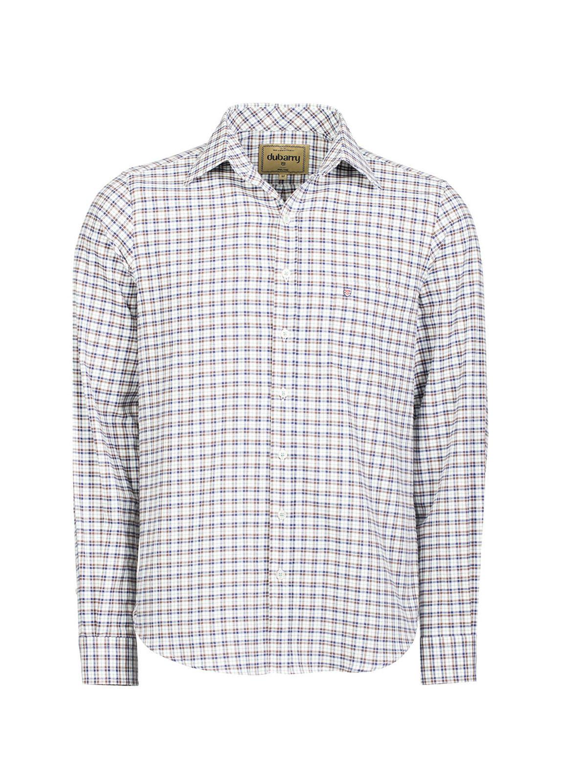 Dubarry_ Slane Men's Cotton Button Up Shirt - Navy/Bordo_Image_2