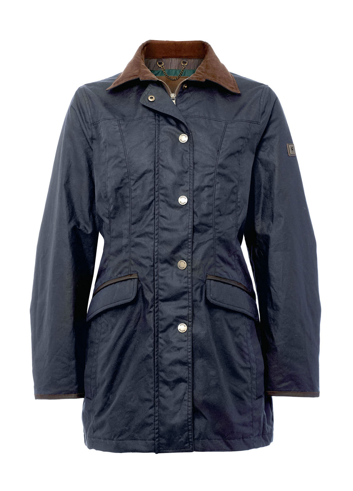 Baltray_Waxed_Jacket_Navy_Image_1