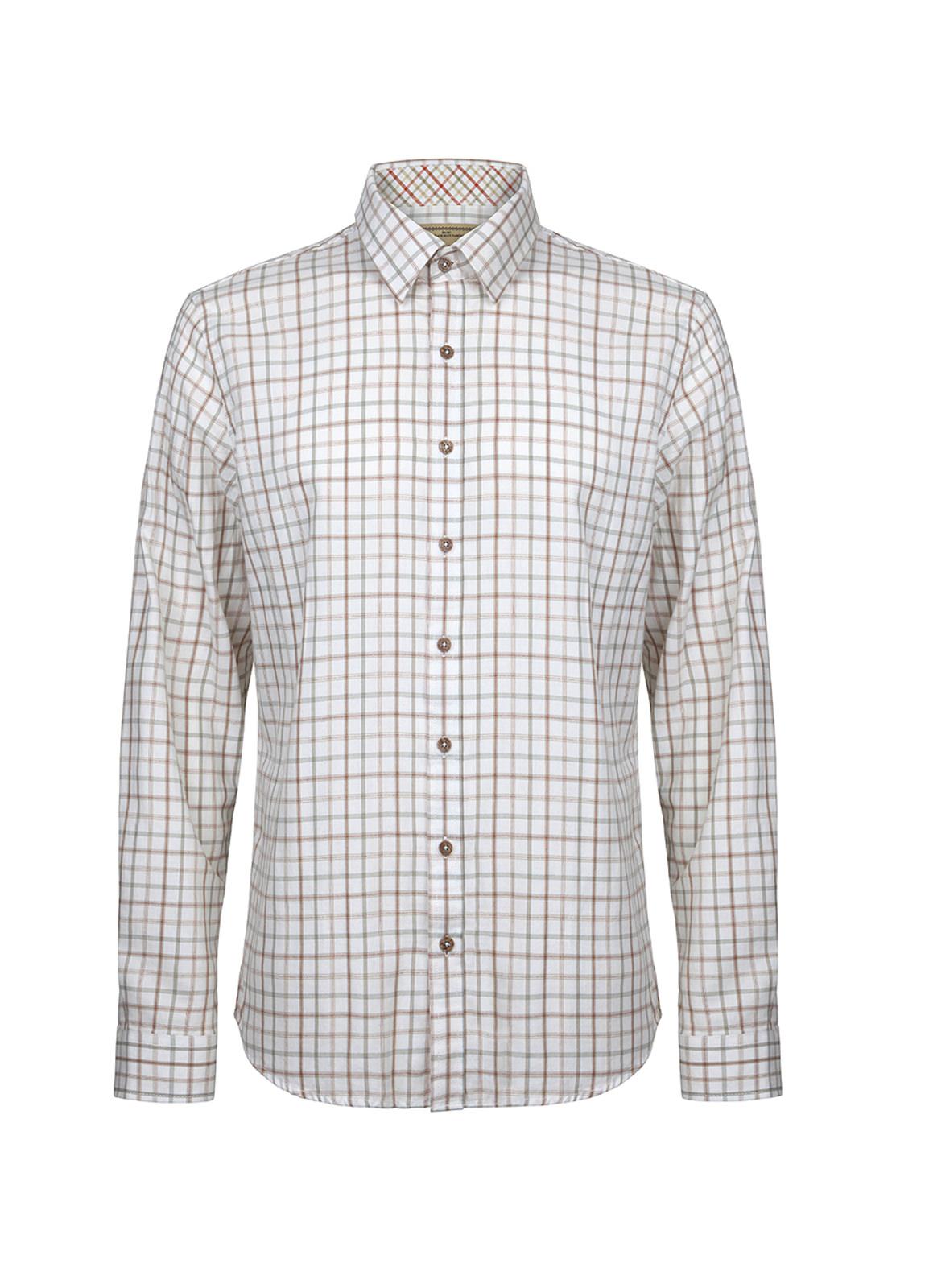 Dubarry_ Roundwood Men's Tattersall Check Shirt - S-W Multi_Image_2