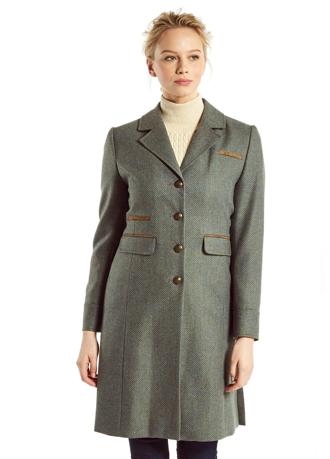 Blackthorn Damen Tweed Mantel Rowan