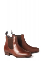 Cork Leather Soled Boot - Chestnut