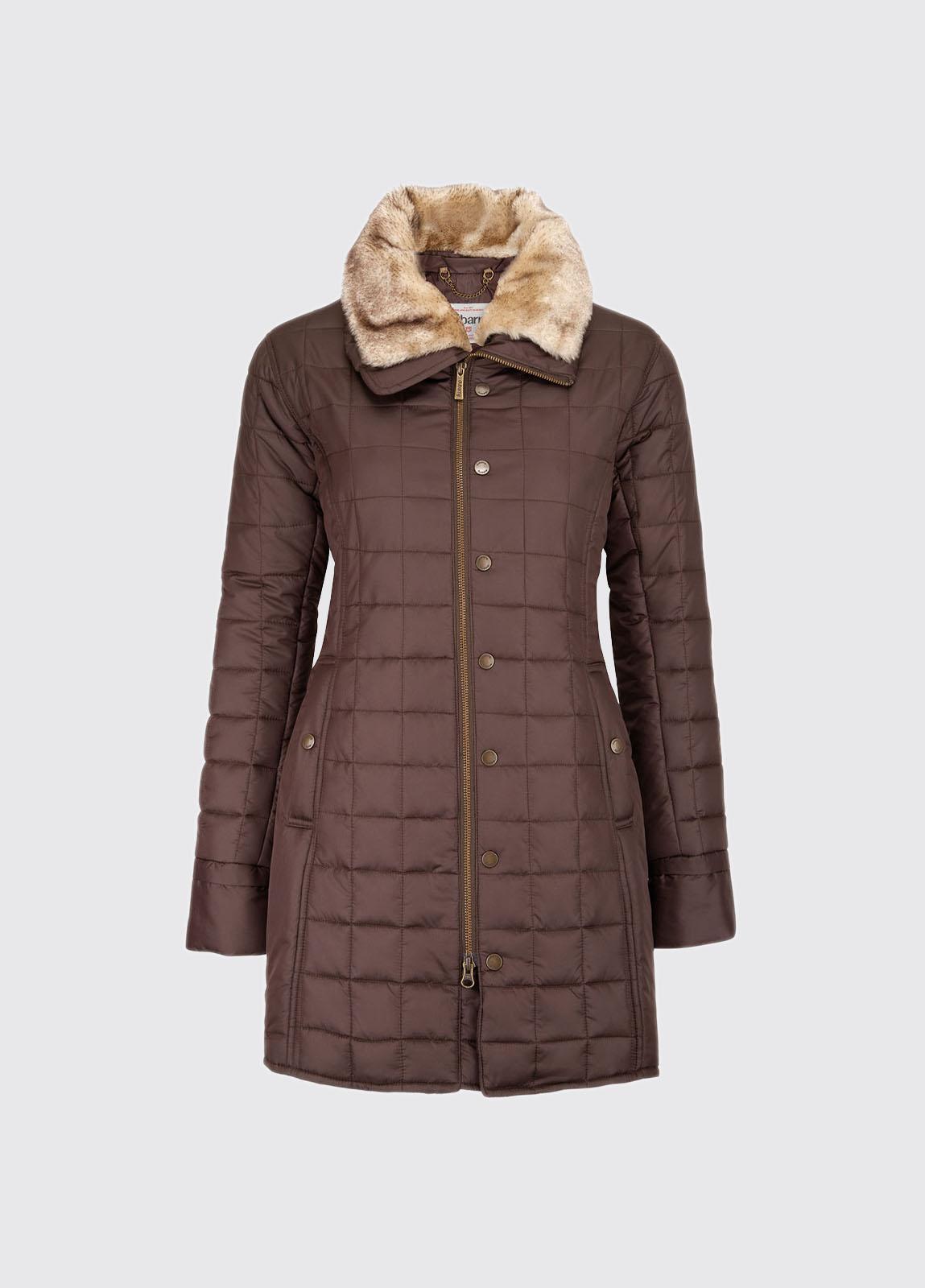 Erin Women's Quilted Coat - Raspberry