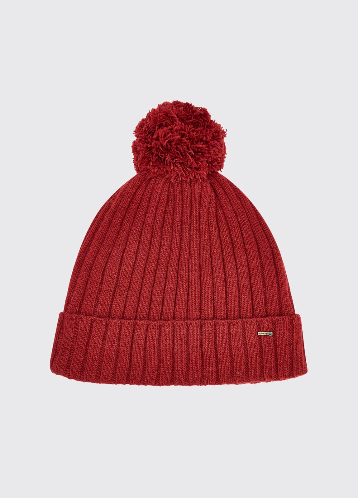 Stewart Bobble Hat - Ruby
