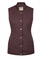 Wilde Womens Quilted Gilet - Chestnut
