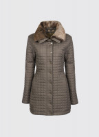 Abbey Women's Quilted Jacket - Smoke