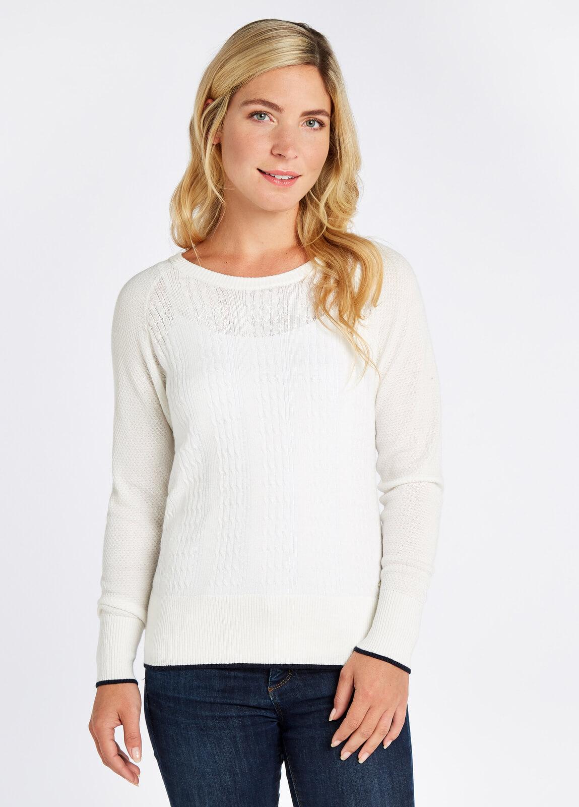 Dubarry_Clifton_Sweater_White_on_model