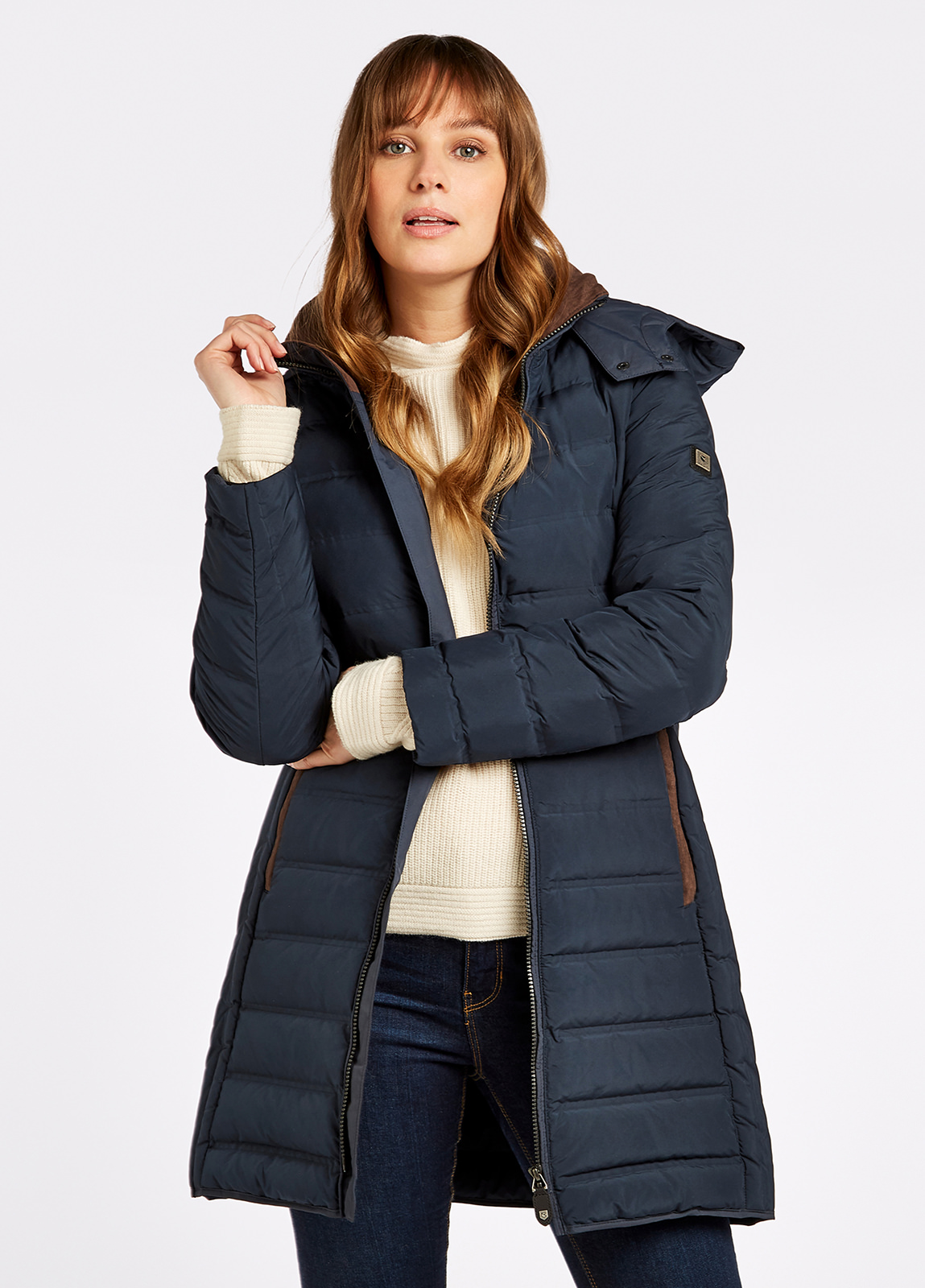 Ballybrophy Quilted Jacket - Navy