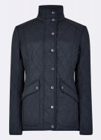 Bettystown Quilted Coat - Navy