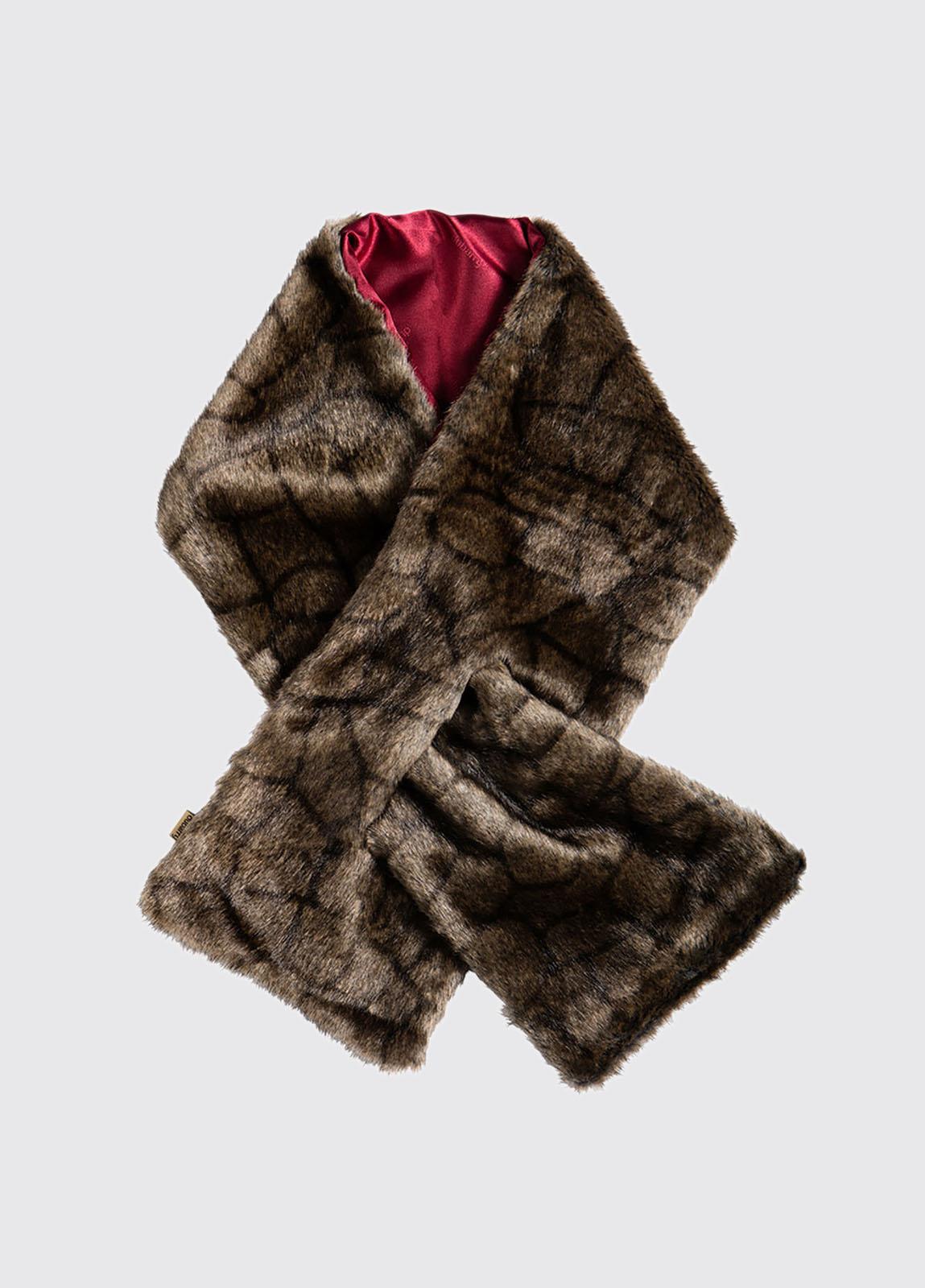Altamont Faux Fur Wrap - Elk
