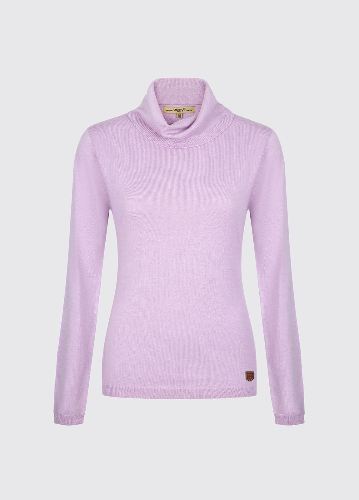 Redmond Classic Roll Neck Knitted Sweater - Lilac
