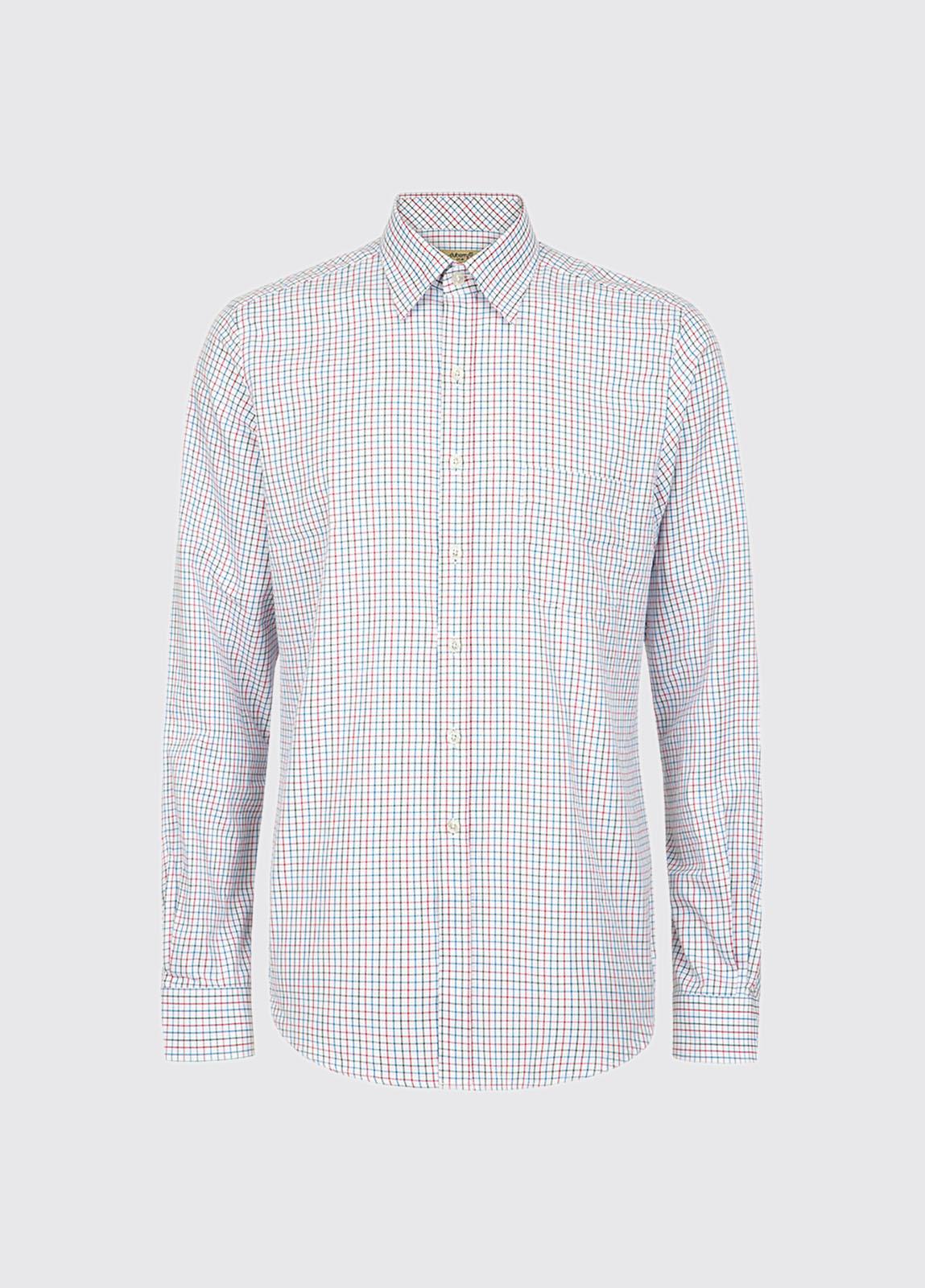 Slane Men's Cotton Button Up Shirt - Blue Multi