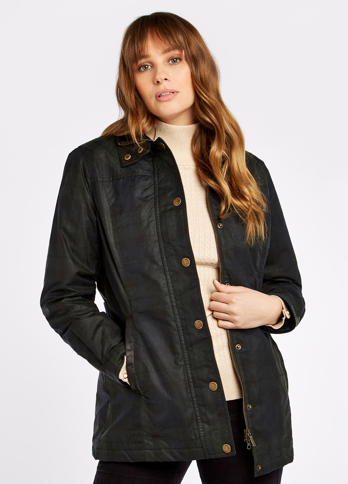 Annestown Wax Jacket - Black Watch