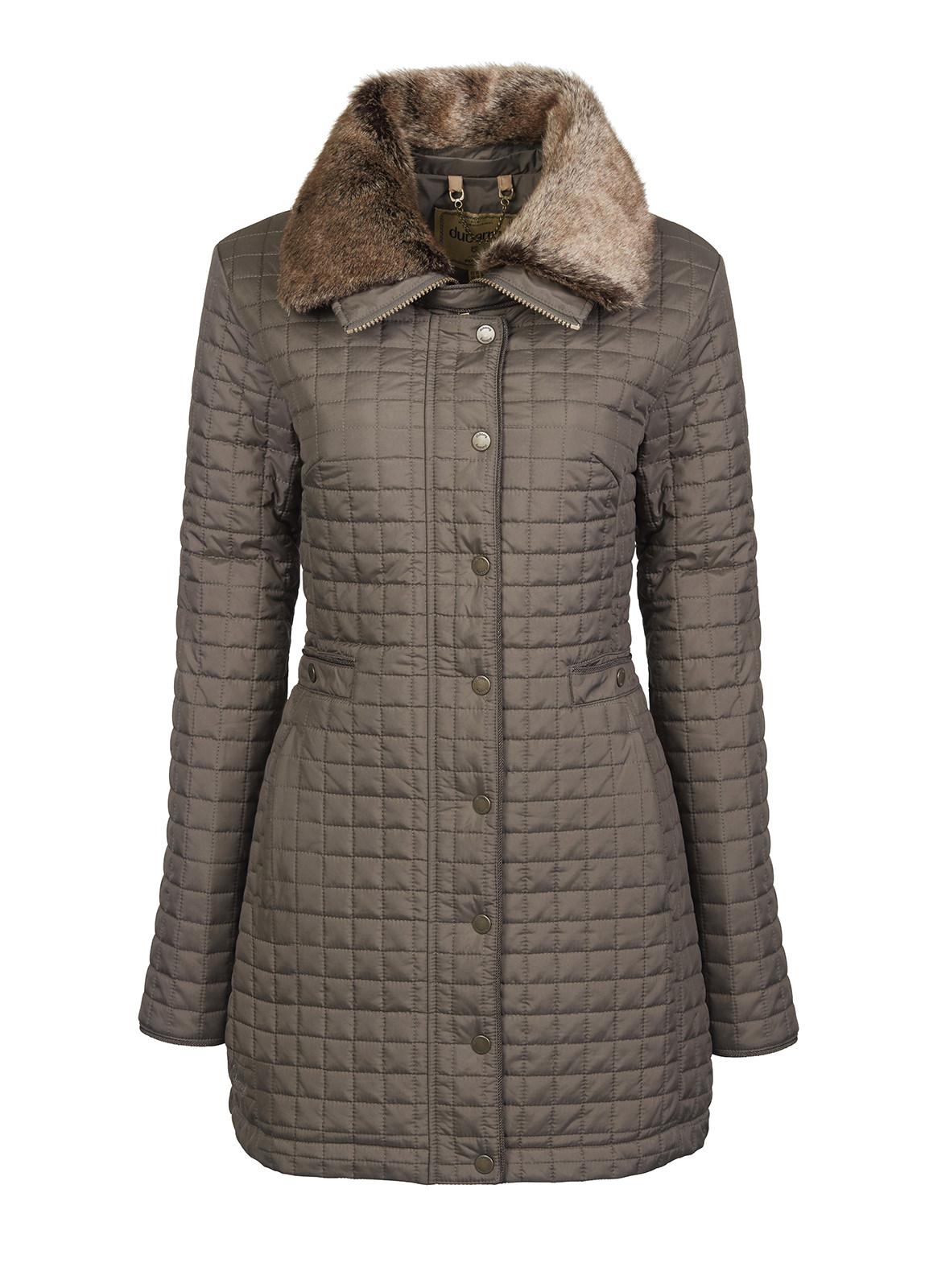 Dubarry_ Abbey Women's Quilted Jacket - Smoke_Image_2