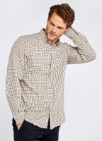 Connell Tattersall Check Shirt - Harvest Gold