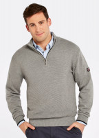 Brosna Zip Neck Sweater - Grey