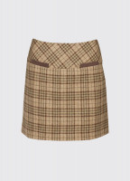 Clover Tweed Mini Skirt - Pebble