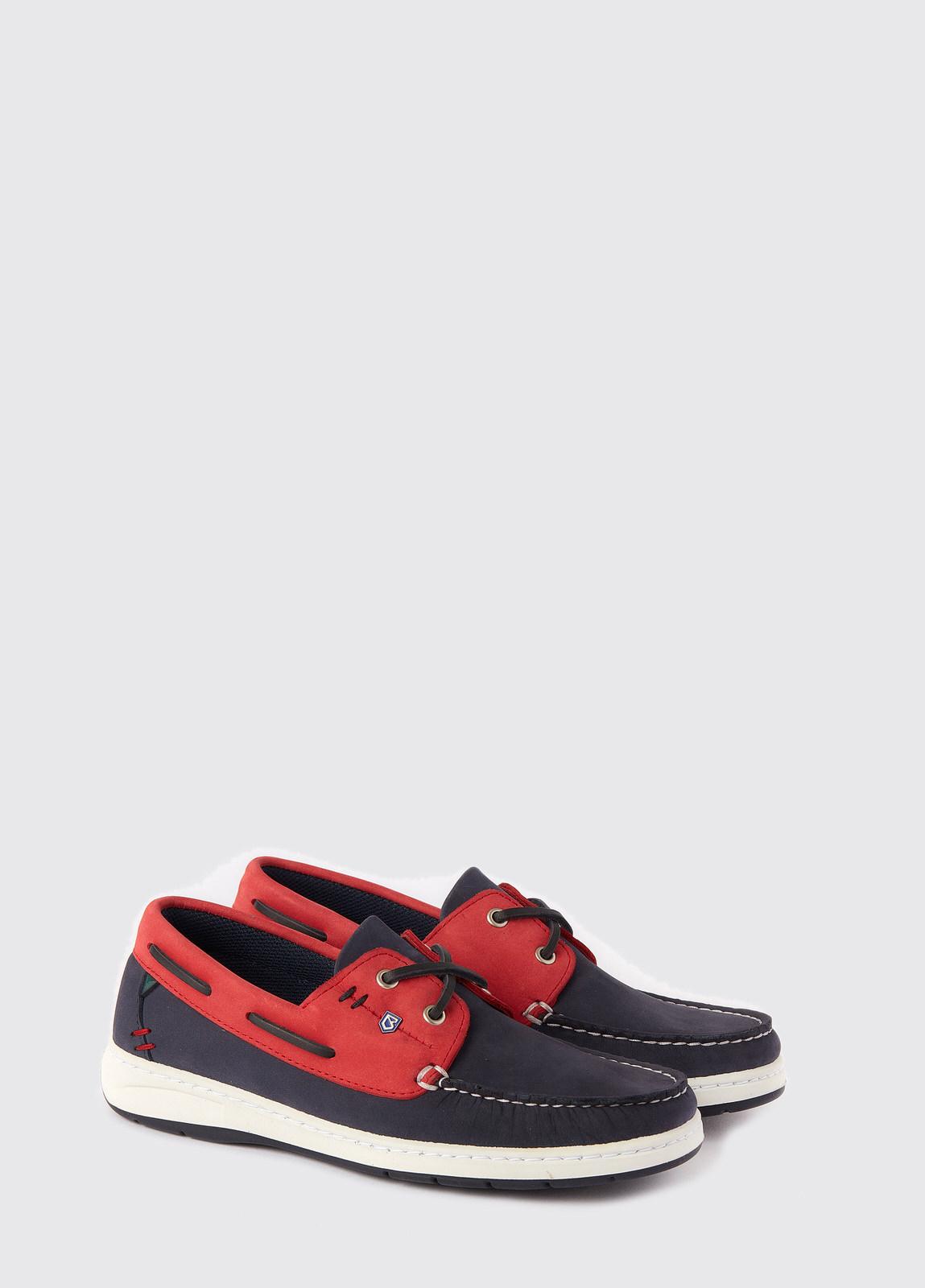 Florida Deck shoes - Denim/Red