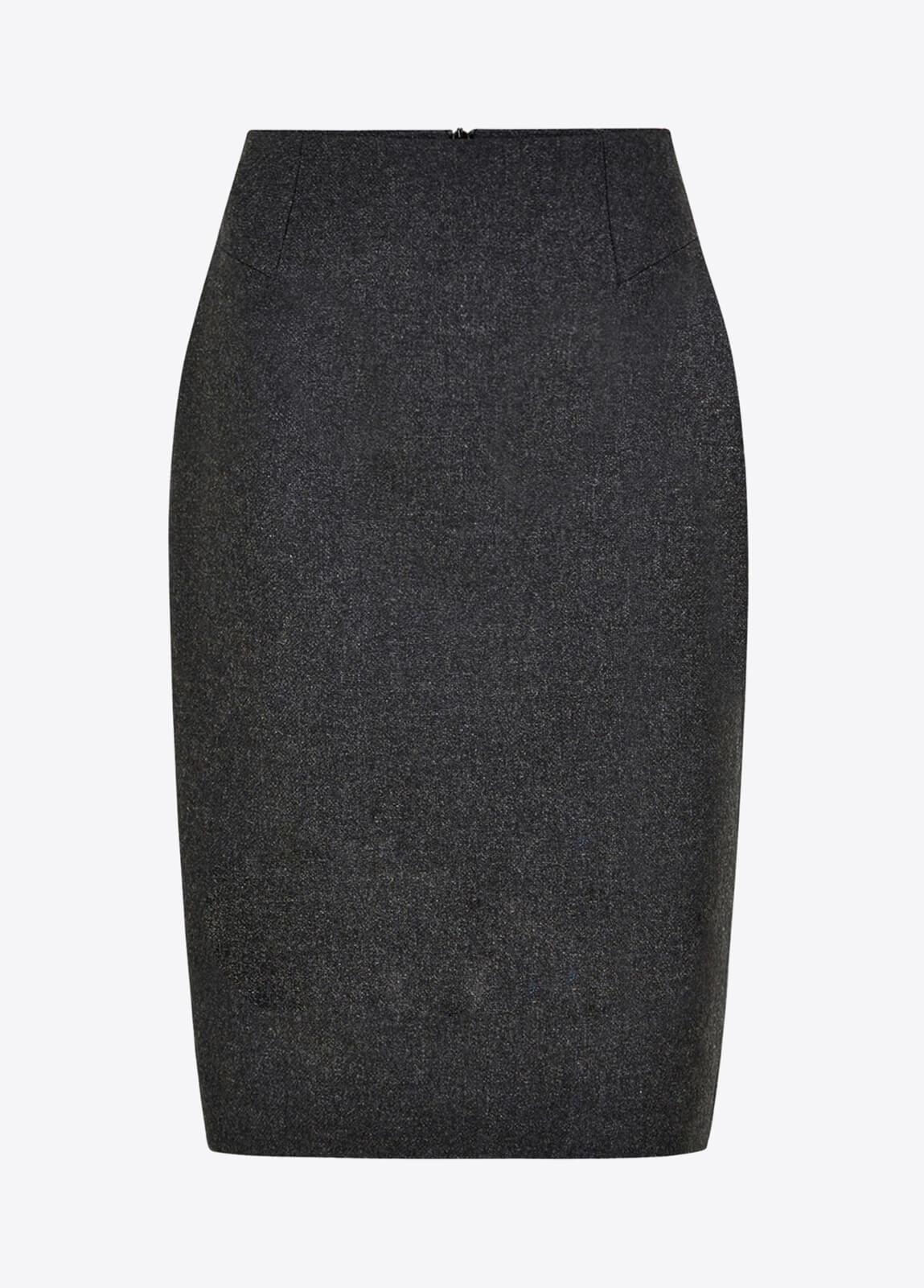 Fern Tweed Skirt - Graphite