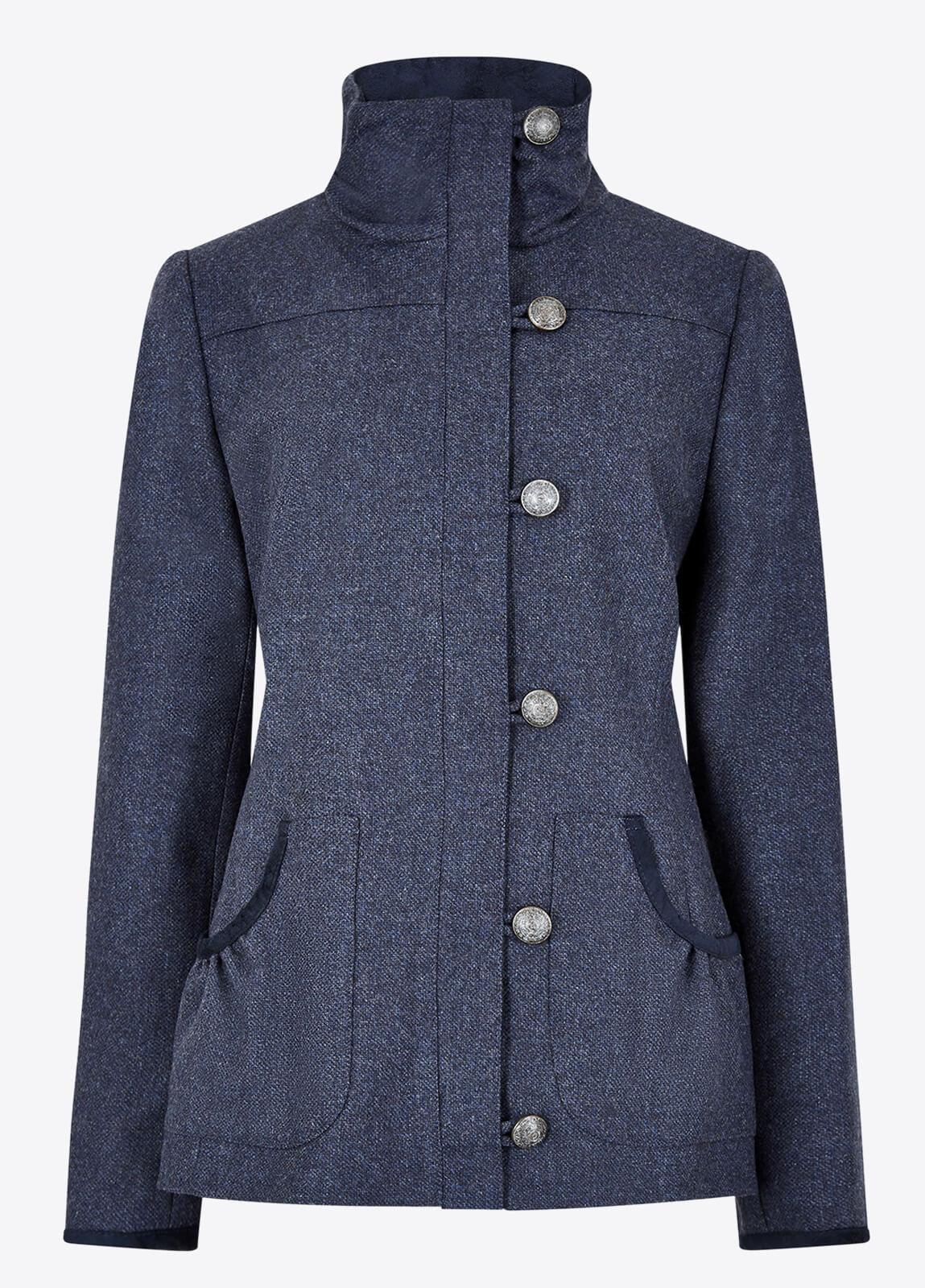 Bracken Tweed Coat - Denim