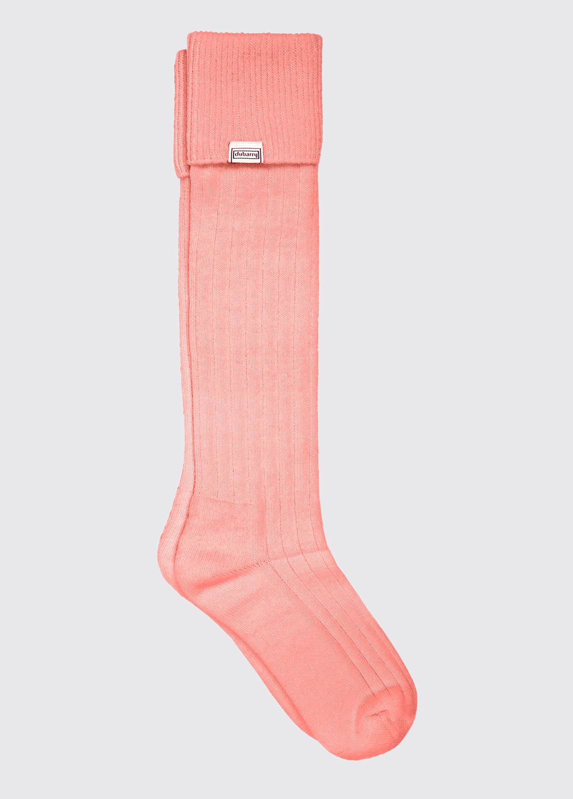 Alpaca Socks - Salmon