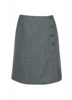Marjoram Slim Tweed Skirt - Mist