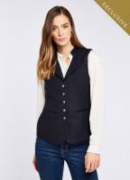 Spindle Tweed Waistcoat - Navy
