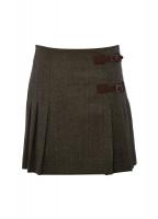 Blossom Tweed Skirt - Moss