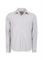 Slane Men's Cotton Button Up Shirt - Navy/Bordo