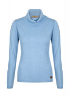 Redmond Classic Roll Neck Knitted Sweater - Blue