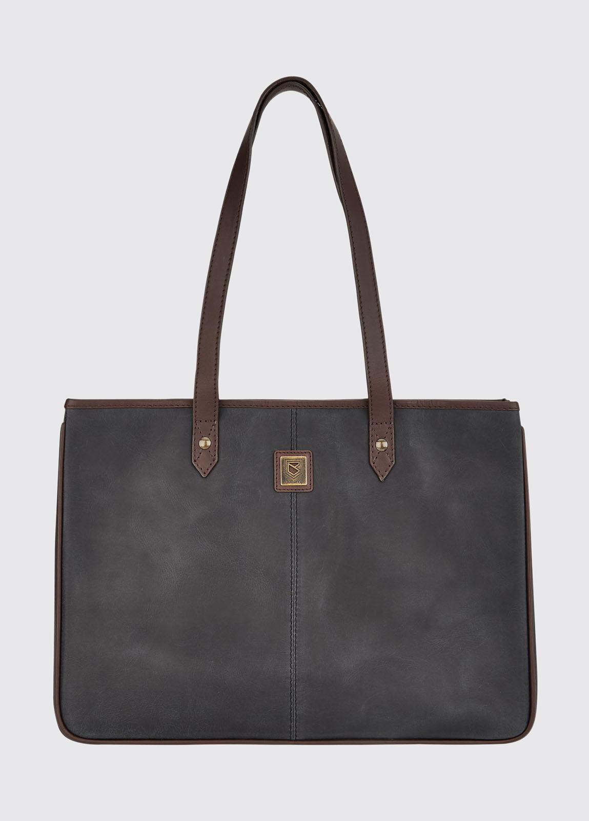 Loughrea Tote Bag - Black/Brown