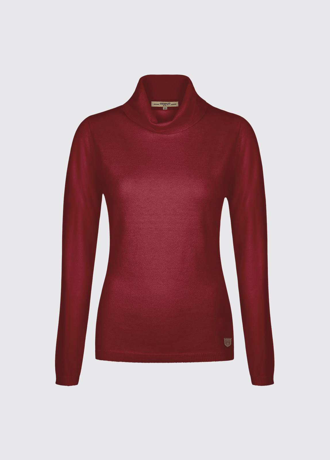 Redmond Classic Roll Neck Knitted Sweater - Crimson