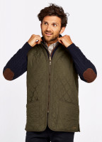 Ballygar Quilted Waistcoat - Olive